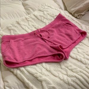 Juicy Couture hot pink shorts size Large